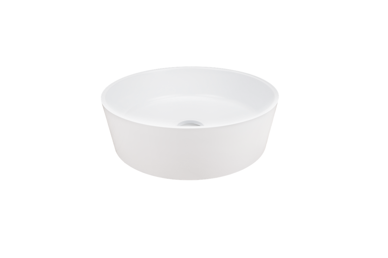 Раковина кругла зі штучного камню Giorgio Group Charlotte 400х400х120 мм White (GG0119W1UA01)