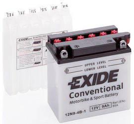 Акумулятор для мотоциклів і скутерів EXIDE 12 вольт 9 ампер (135X75X139)