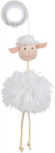 Игрушка для котов и котят овечка плюшевая на резинке, Trixie, 20 см