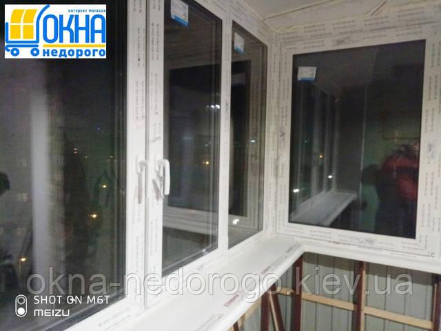 Балкон с выносом каркасом Киев пер. Металлистов 1 фото работы 14 бригады