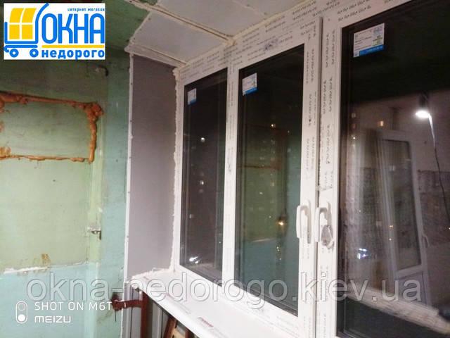 Балкон с выносом каркасом Киев на переулке Металлистов 1 фото работы 14 бригады