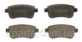 Колодки гальмівні задні (електро ручник) Renault Megane 3 хетчбек (ABE C2R013ABE)(середня якість)