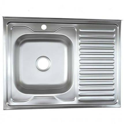 Мойка из нержавеющей стали 07мм Platinum 8060 satin, фото 2