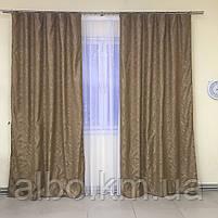Штори з льону для будинку кімнати кухні, штори блекаут для будинку залу спальні дитячої кімнати, штори від сонця для спальні залу, фото 2
