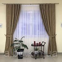 Штори з льону для будинку кімнати кухні, штори блекаут для будинку залу спальні дитячої кімнати, штори від сонця для спальні залу, фото 8