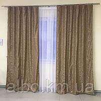 Штори з льону для будинку кімнати кухні, штори блекаут для будинку залу спальні дитячої кімнати, штори від сонця для спальні залу, фото 4