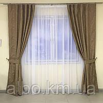 Штори з льону для будинку кімнати кухні, штори блекаут для будинку залу спальні дитячої кімнати, штори від сонця для спальні залу, фото 9
