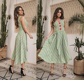Платье  миди в расцветках  82593, фото 2