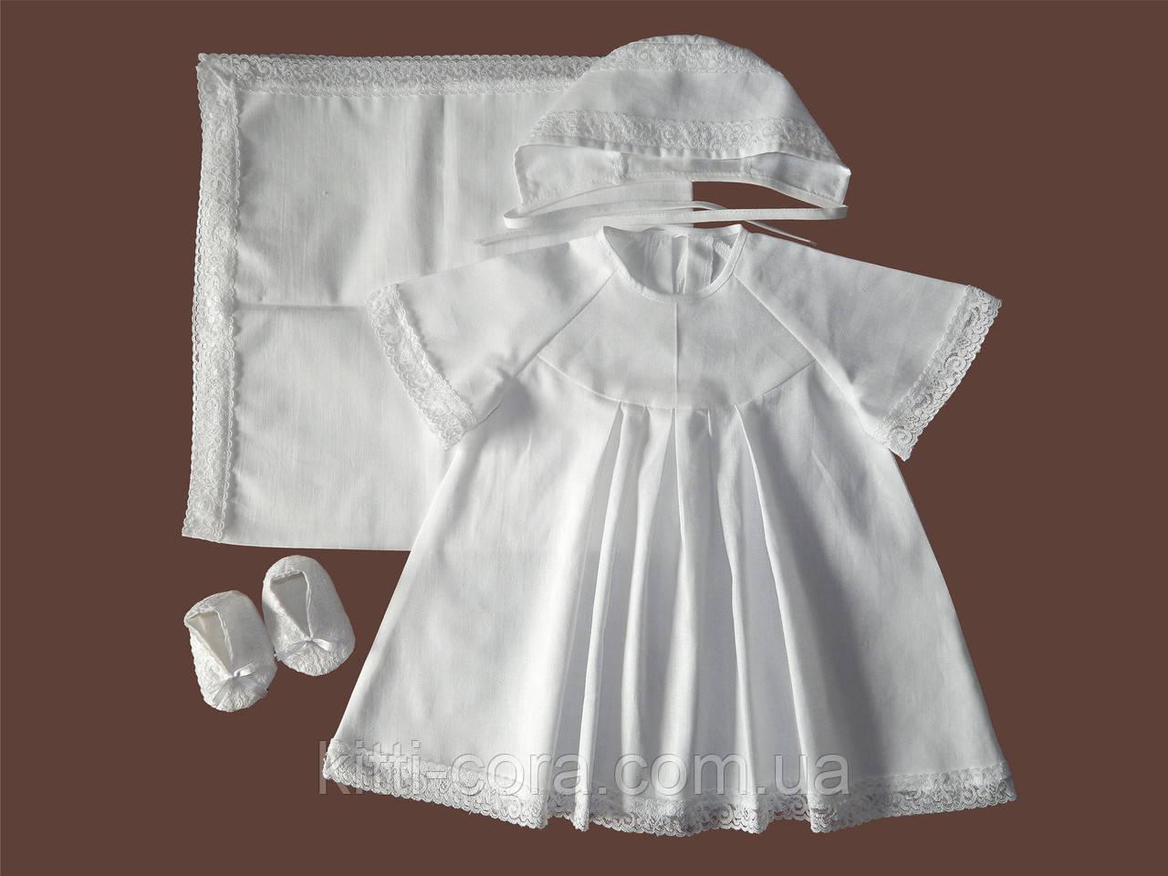 Зимний набор для крестин девочки из фланели, байки. Модель Happy 2 - Kitti Cora - интернет магазин для мам и малышей в Львове