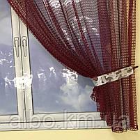 Модные занавески для зала кухни детской, короткая кухонная занавеска, короткая тюль в спальню кухню детскую,, фото 4