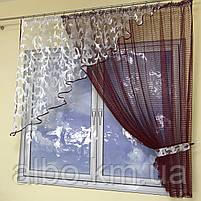 Модные занавески для зала кухни детской, короткая кухонная занавеска, короткая тюль в спальню кухню детскую,, фото 6