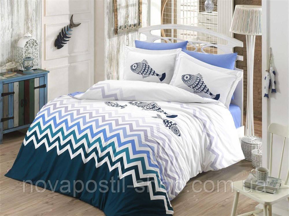 Постельное белье Hobby Poplin Ocean синий