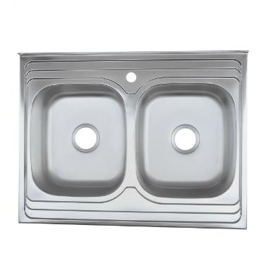 Мойка из нержавеющей стали 07мм Platinum 8060D  polish, фото 2