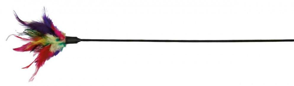 Игрушка для котов и котят палочка с перьями, Trixie, 50 см
