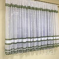 Короткий тюль сітка для залу спальні кухні, фіранки в дитячу спальню зал кімнату короткі, якісна тюль фіранка в зал кімнату, фото 4