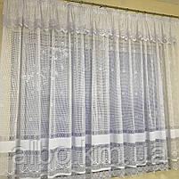 Короткие шторы из вуали для зала гостинной кухни, короткие шторы на кухню балкан окно с ламбрекеном, красивые, фото 2