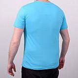 Чоловіча футболка великого розміру, блакитного кольору, фото 2