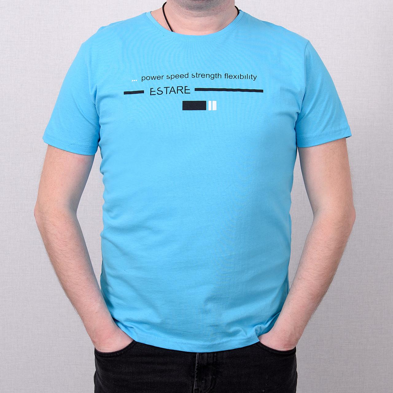 Чоловіча футболка великого розміру, блакитного кольору