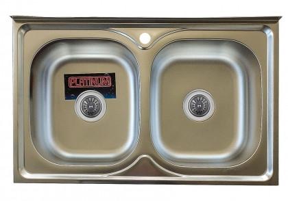 Мойка из нержавеющей стали 07мм Platinum 8050D satin