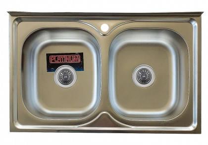 Мойка из нержавеющей стали 07мм Platinum 8050D satin, фото 2