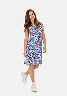 Трикотажное платье для беременных и кормящих (blue), фото 1