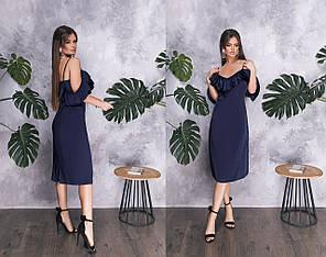 Платье  рюши миди в расцветках  82579, фото 2