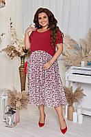 Женское Стильное Платье Батал, фото 1