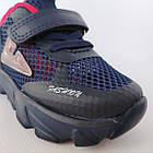 Сині легкі кросівки з наскрізною сіткою хлопчикам, р. 21, 22, 23, 24, 26. Весняні, літні, фото 8