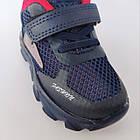 Сині легкі кросівки з наскрізною сіткою хлопчикам, р. 21, 22, 23, 24, 26. Весняні, літні, фото 9