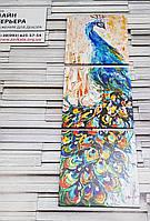 Модульная картина с рисованной жар-птицей на холсте 110х35 см (35x35-3шт)