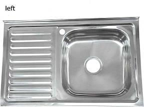 Мойка из нержавеющей стали 07мм Platinum 8050 polish, фото 2