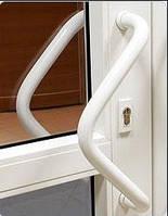 Ручка для металлопластиковой двери офисная треугольной формы цвет белый