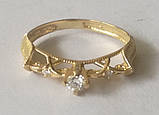 Кільце КБ1695МДз, золото 585 проба, кубічний цирконій, фото 4