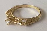 Кільце КБ1695МДз, золото 585 проба, кубічний цирконій, фото 5