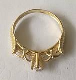 Кільце КБ1695МДз, золото 585 проба, кубічний цирконій, фото 6
