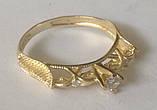 Кільце КБ1695МДз, золото 585 проба, кубічний цирконій, фото 7