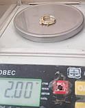 Кільце КБ1695МДз, золото 585 проба, кубічний цирконій, фото 8