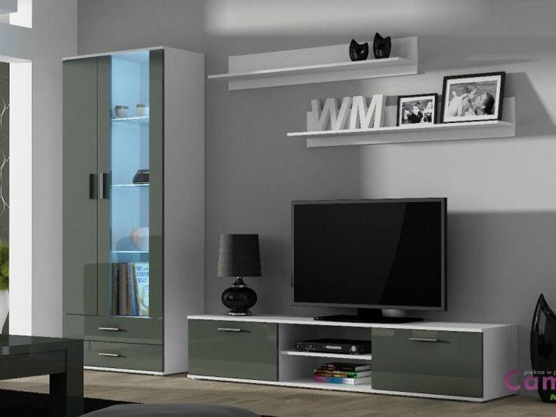 Гостиная SOHO 8 белый/серый (модульная мебель) (Cama)