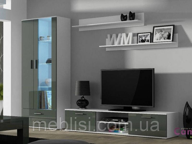 Вітальня SOHO 8 білий/сірий (модульні меблі) (Cama)