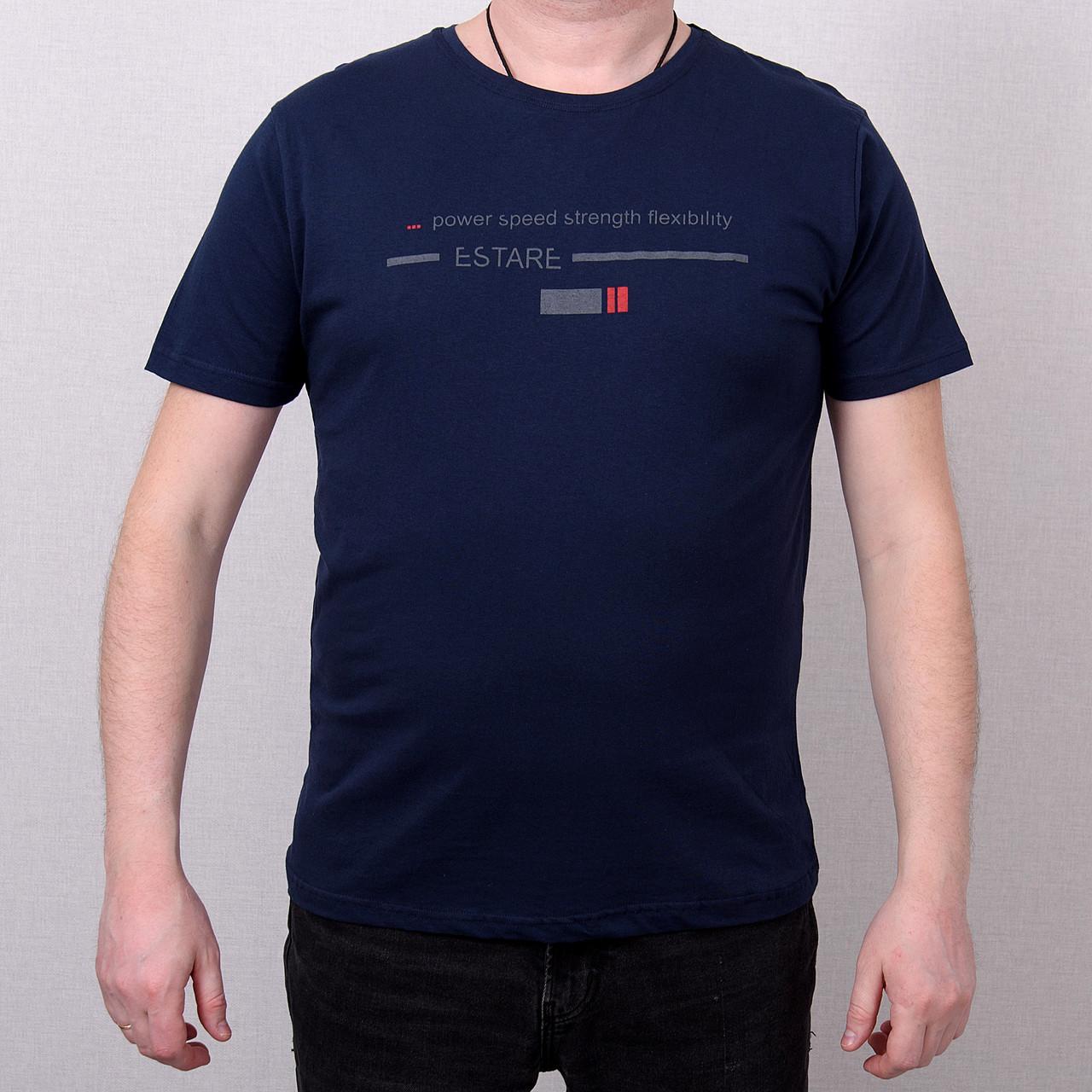 Чоловіча футболка великого розміру, темно-синього кольору
