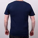 Чоловіча футболка великого розміру, темно-синього кольору, фото 2