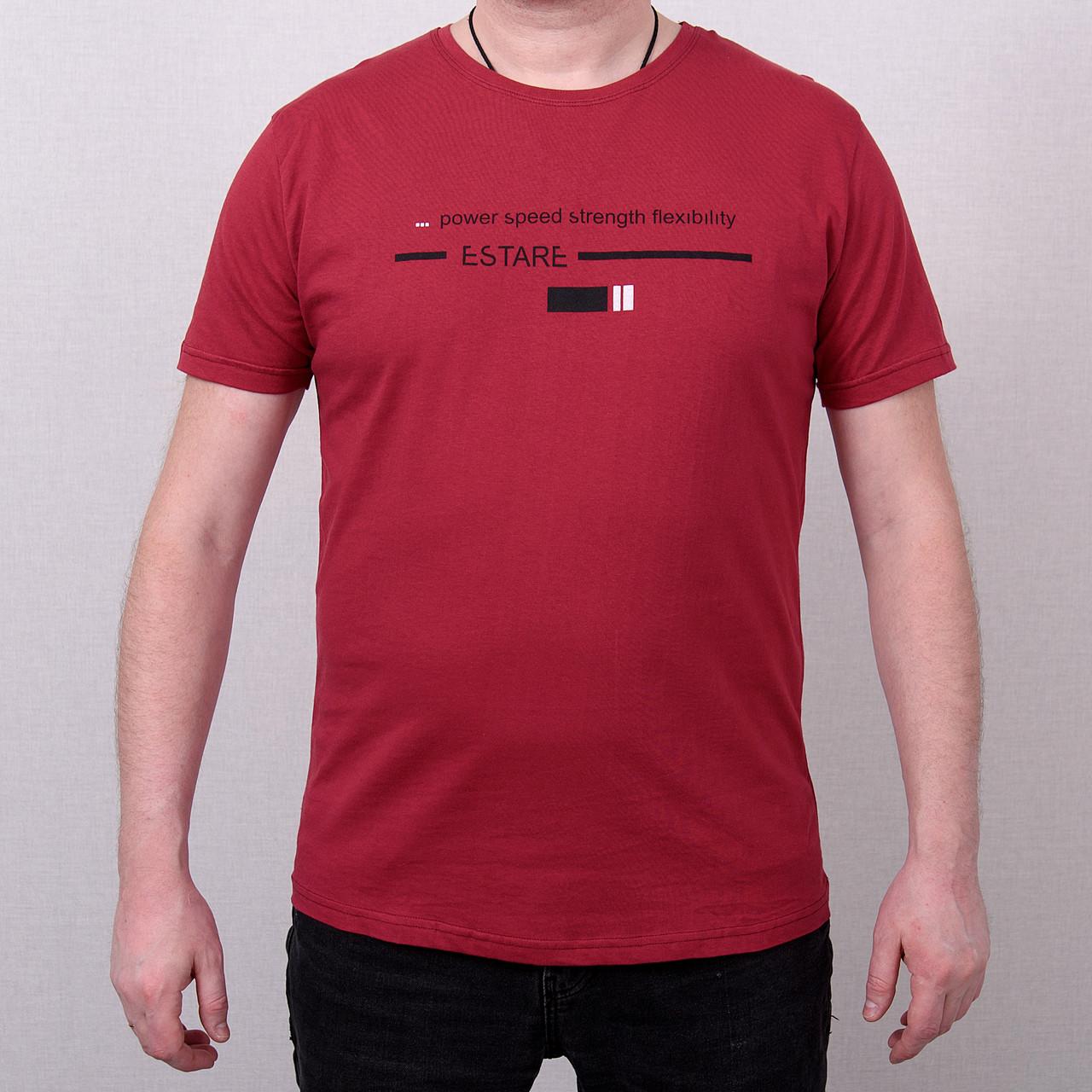 Чоловіча футболка великого розміру, кольору бордо