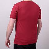 Чоловіча футболка великого розміру, кольору бордо, фото 2