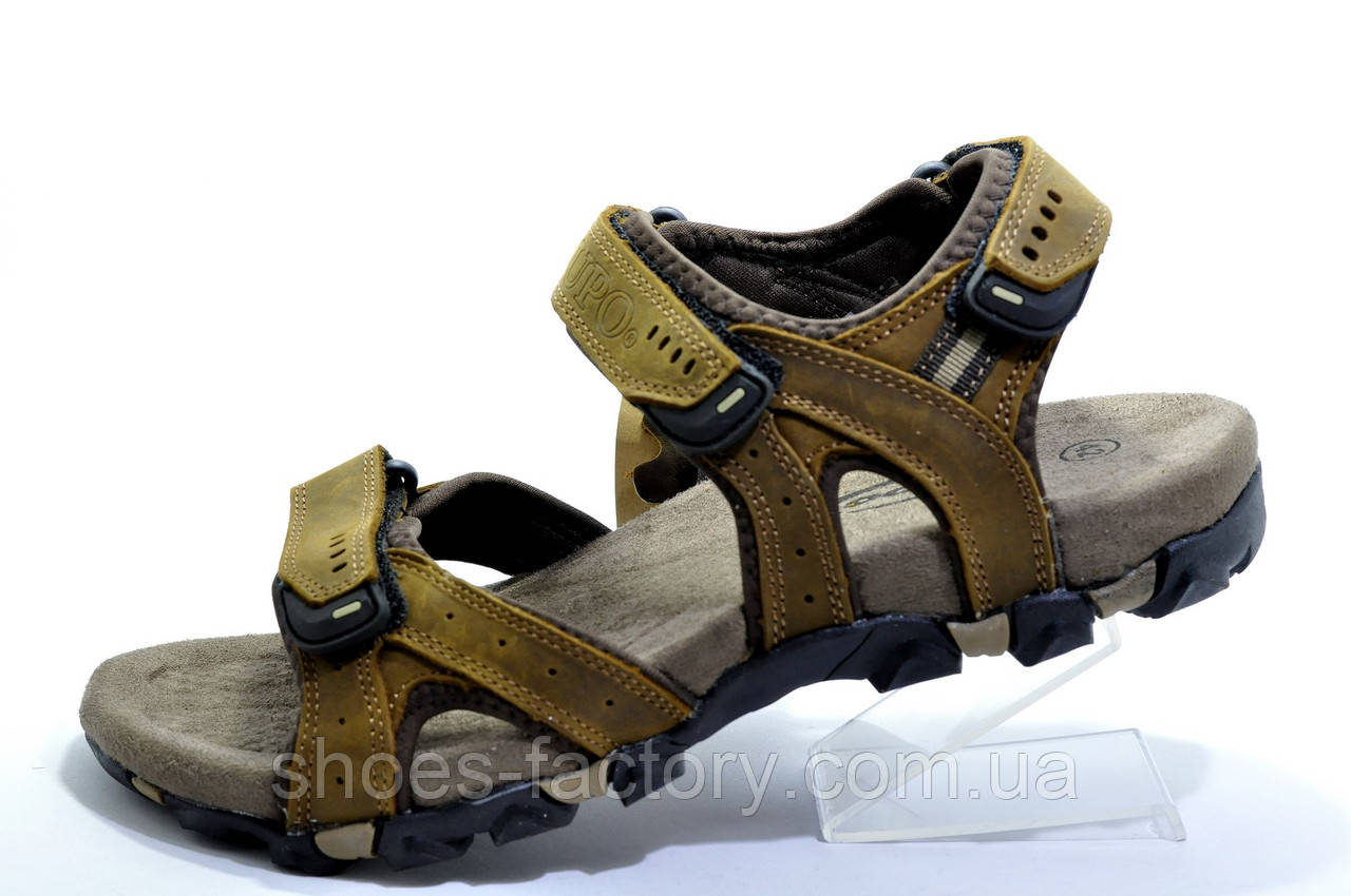 Сандалии мужские Supo Brown, кожаные