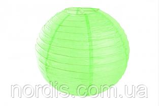 Бумажный подвесной шар салатовый, 40 см.