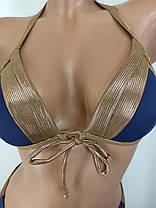Купальник бикини с уплотненной чашкой Push Up Kesell 2033 синий на 42 44 46 48 50 размер, фото 3