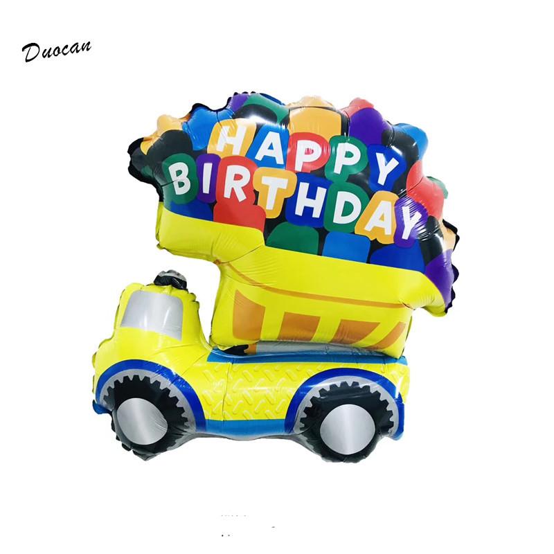 Фольгированный шар 20' Машинка самосвал happy birthday, 57 см 1781