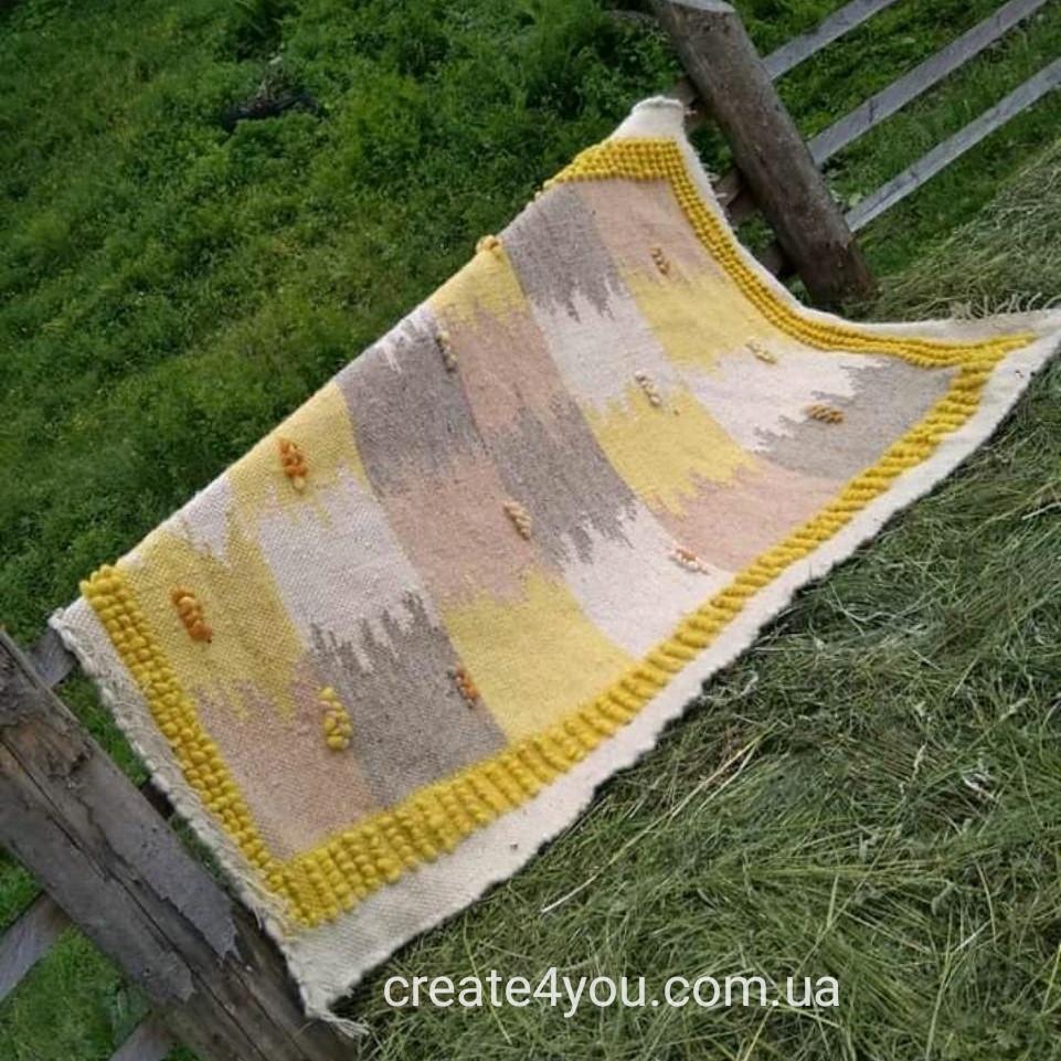 Ліжник, коврик з натуральної овечої шерсті на ліжко, підлогу