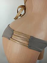 Купальник бикини с уплотненной чашкой Push Up Kesell 2033 коричневый на 42 44 46 48 50 размер, фото 3