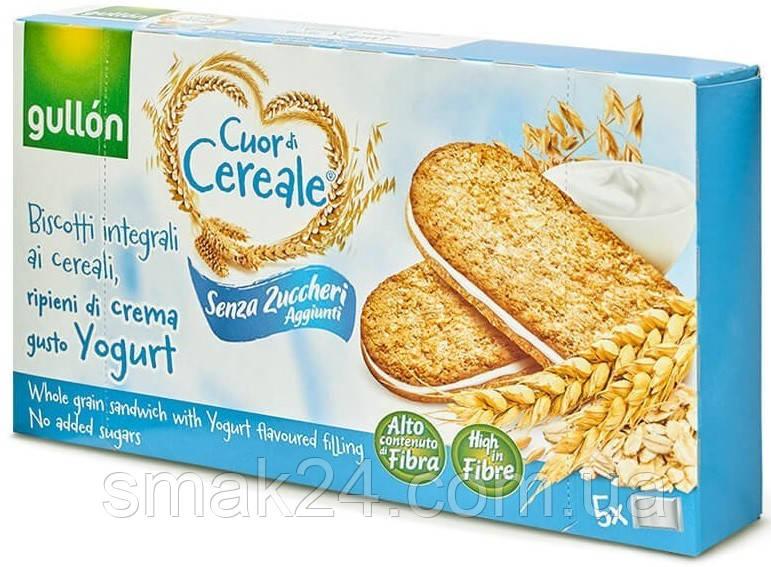 Печенье без сахара злаковое с йогуртовым кремом Gullon Cuor di Cereale 220гр (5х44г)  Испания